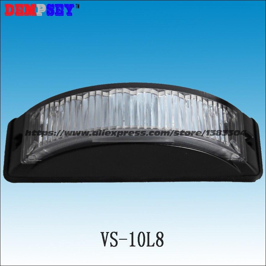 ФОТО VS-10L8 LED Grill Lights, 1W LED, 19 flash pattern, waterproof, LED surface mount Strobe Warning Flashing Light