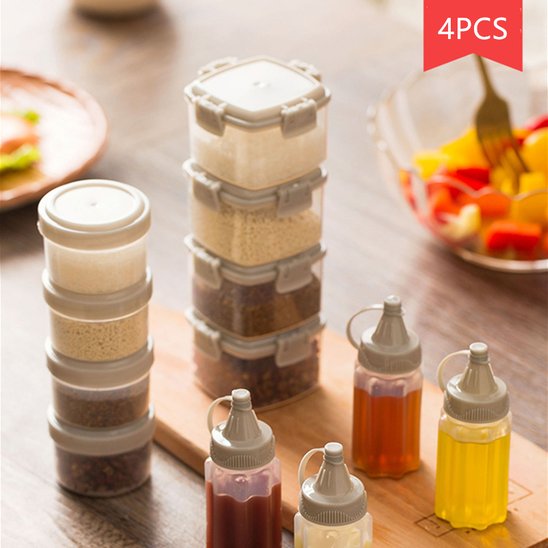 Jar Bottle-Set Spice-Box Barbecue-Seasoning-Bottle Transparent Household Cruet Sauce