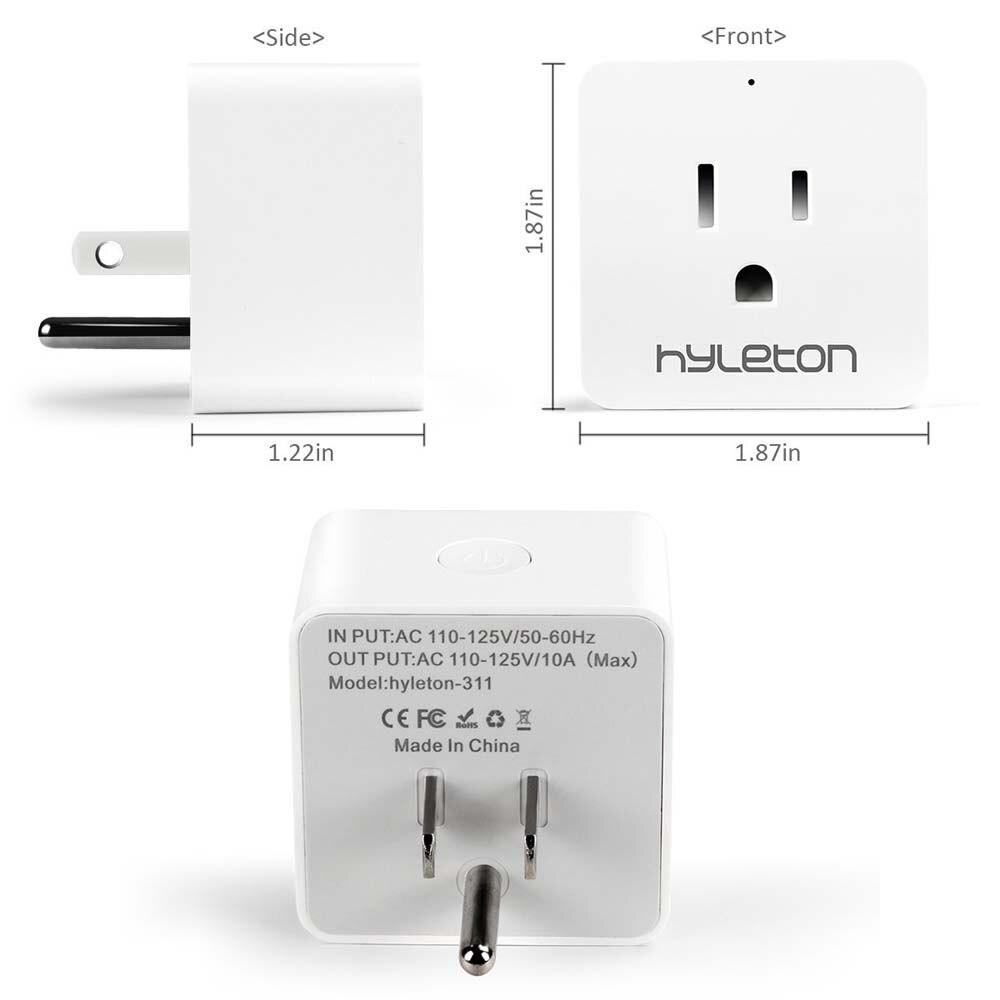 2 Pack Hyleton smart plug 10A Home Automation wifi socket