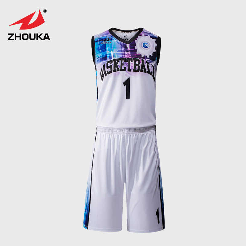 51f675e8501 Sublimation Printing Basketball Jersey Uniform Customizing Whole Design  Basketball Jerseys Top quality personalised sublimation