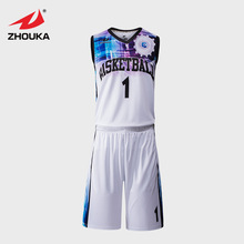 Sublimation Team College Basketball Jersey Uniform Customizing Blank Design Basketball Jerseys Throwback Basketball Clothes Set цена