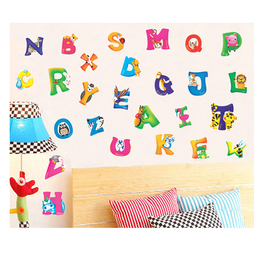 online get cheap alphabet wall stickers for kids aliexpress com wall stickers free shipping english letters alphabet removable wall glass art decal sticker for kids mural
