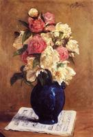 Boquet of Peonies on a Musical Score by Paul Gauguin oil Painting Canvas High quality hand painted still life Art Reproduction