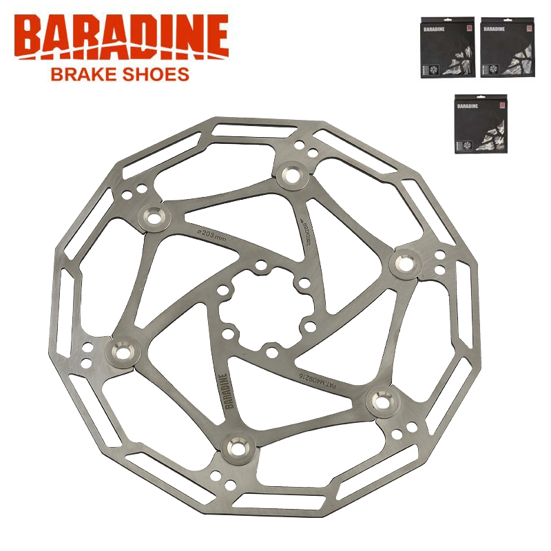 BARADINE bicycle mountain bike disc brake floading dish brake Bicycle disc brakes Accessories 160MM 180MM 203MM fouriers 140mm 160mm 180mm 203mm mtb bike brake disc rotors hydraulic mechnical mountain bicycle disc brake rotor