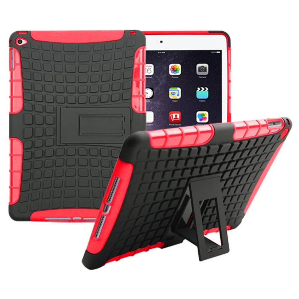 Aspiring Hybrid Tire Pattern Shockproof Protect Back Silicon Cover Case With Stand For Apple Ipad Air 2 Ipad 6 9.7 Inch Coque Capa Funda Durable Modeling