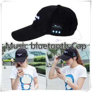 Image 2 - portable bluetooth earphone Headphone Headset Speaker Cotton Wireless Baseball Hat Music Cap For Women Men Casual Caps 5 Colors