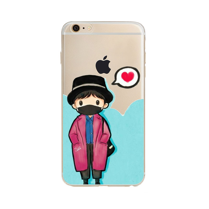Fashion Bigbang K-pop T.O.P Choi Seung Hyun Transparent Soft Thin Gel TPU Phone Case for Apple iPhone 5 5s 5c...  t iphone 7 case | Don't Wait For An iPhone 7 Plus Battery Case Fashion Bigbang K pop font b T b font O P Choi Seung Hyun Transparent Soft