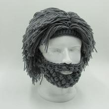 Funny Party Mask Beanies Wig Beard Hats Hobo Mad Handmade Knit Warm Winter Caps Halloween Gift