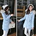 Mulheres Jaqueta de inverno Gola De Pele Com Capuz Jaqueta Casaco Para Mulheres Outwear Parka Casaco De Inverno Feminino