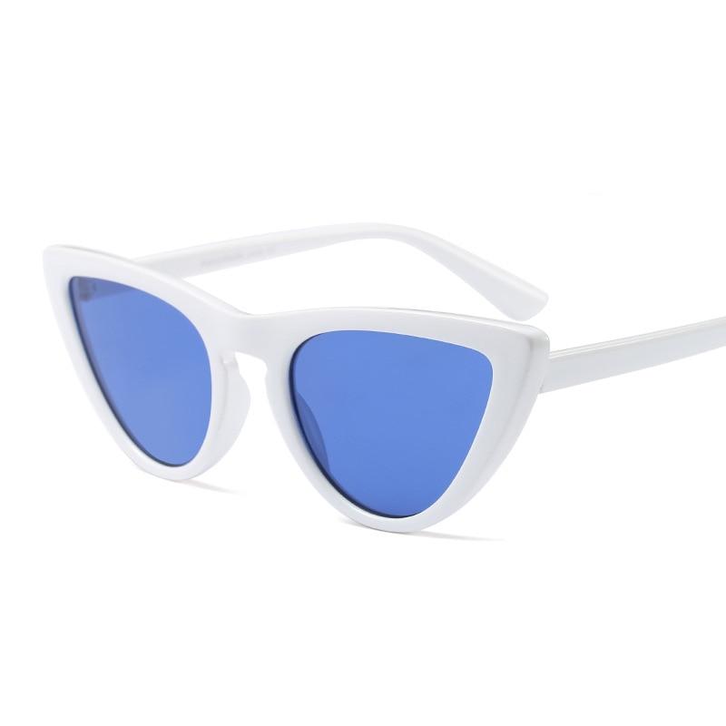 Pop Age 2018 High quality Cat Eye Sunglasses Women Brand Designer Retro Mirror Sunglasses Female Glasses Eyewear lentes Shades in Women 39 s Sunglasses from Apparel Accessories