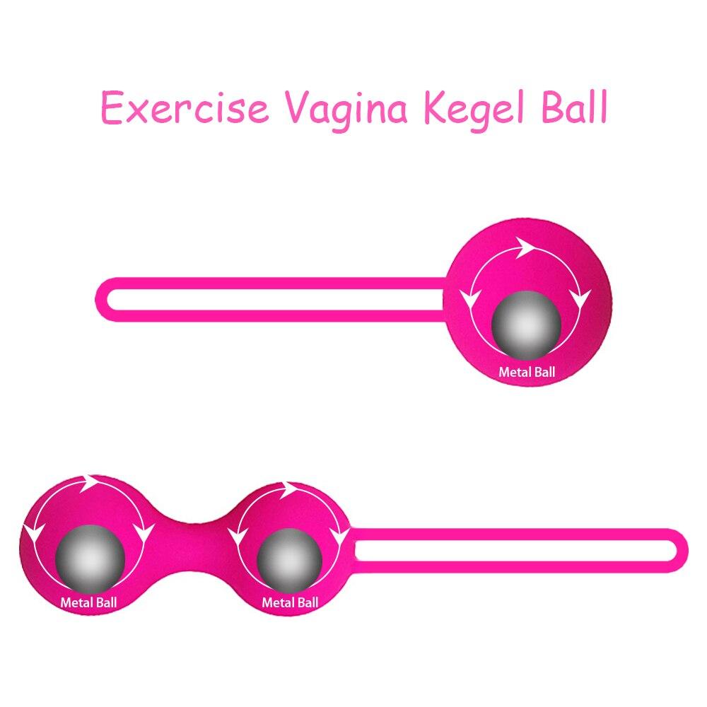 Safe Silicone kegel balls egg Smart Ball Ben Wa Balls Vaginal Tighten Exercise Machine Vibrator Geisha
