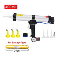 400ml sausage caulking gun silicone caulking tools pneumatic gun grout sealant adhesive nozzle paint for epoxy resin ab silicone