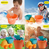 Summer Silicone Soft Baby Beach Toys Kids Mesh Bag Bath Play Set Beach Party Cart Ducks Bucket Sand Molds Tool Water Game 4