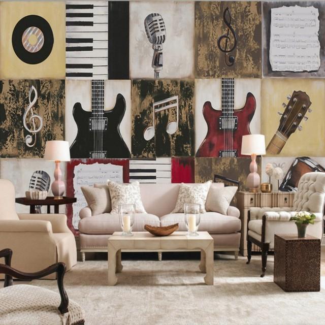 Carta da parati 3d Personalizzato Pianoforte strumento musicale ...