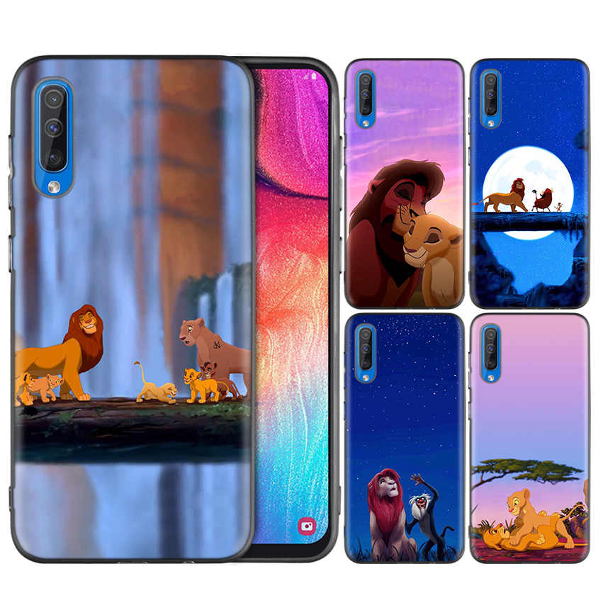 Black Dark Silicone Case for Samsung Galaxy A50 A30 A10 M30 Cases Cover Shell Coque The Lion King Grumpy Cat Simba
