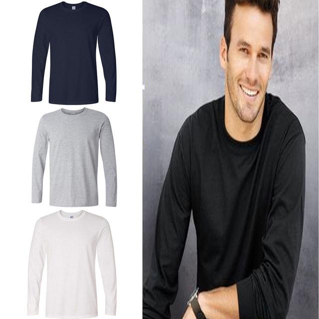 c57cf48cc98 Mens Cotton Blend T Shirt Warm Long Sleeve Plain BasicTee Shirt Men Tops  Fashion Clothing Slim Fit Bottoming Shirts