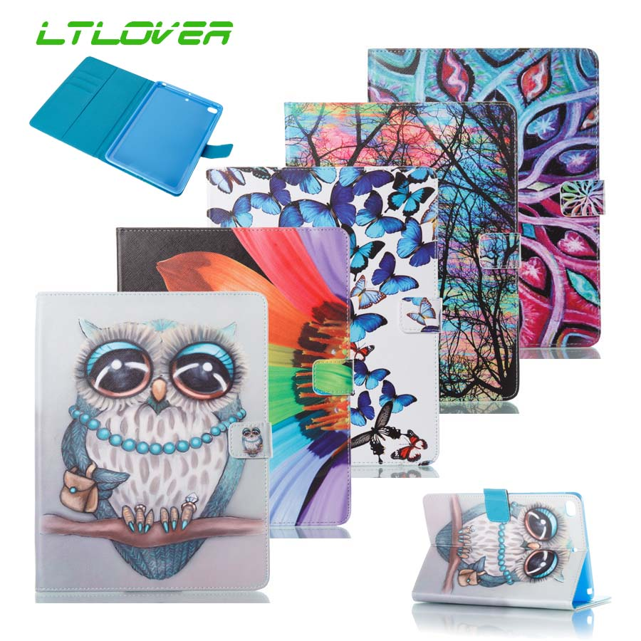 Ultra Slim Cartoon Leather Smart Stand Case Cover For iPad Mini 4 7.9 inch A1538 A1550 Tablet Cases For Apple iPad Mini 4 Fundas
