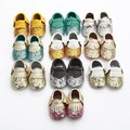 EMS DHL Free ship 2016 new Sparkle Gold Silver Tassel Accent Soft Moccasins baby Shoes First Walkers fringe Shoes 20pair/lot