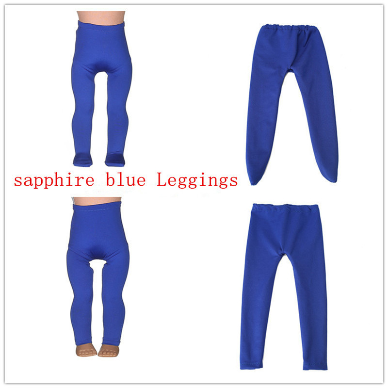 2 color Blue Leggings Tight Pants Fit 18 Inches American Girl Doll Baby Doll Clothes Acc ...