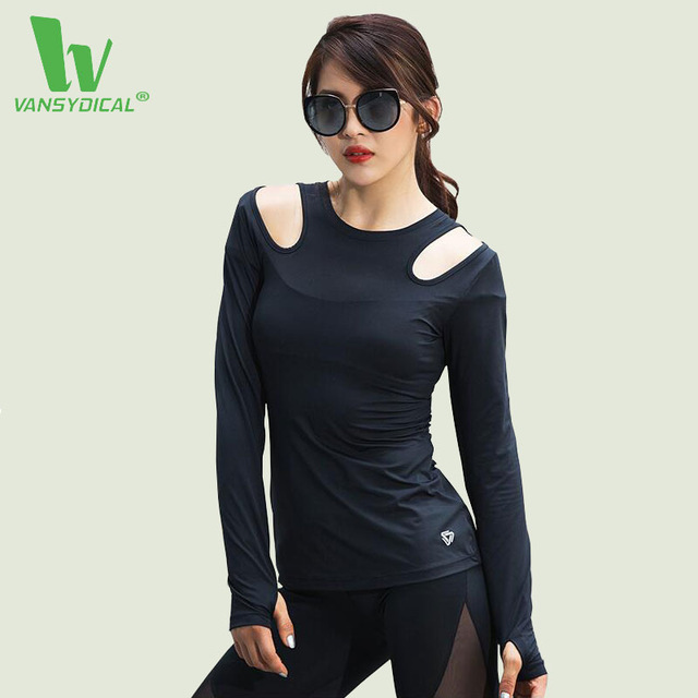 Fitness T Shirt Women Long Sleeve Running Shirt Elastic Sport Clothes Ladies Yoga T-shirts Outdoor Fitness Tops Mujer