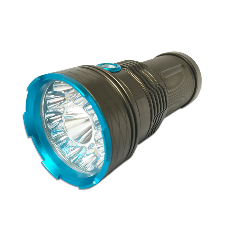 Powerful 16000 Lumens LED Flashlight 12x XML T6 Tactical Flashlight 18650 Battery linterna led Torch Lamp Outdoor Camping Light brightness 24000lm 12x xml t6 led flashlight torch 6x 18650 camping light