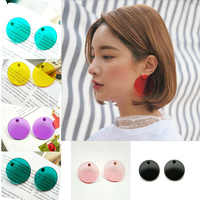 SOHOT 4CM Summer Acrylic Red Yellow Green Color Women Clear Hoop Earrings Candy Colorful Chic Circle For Girl Birthday Brincos