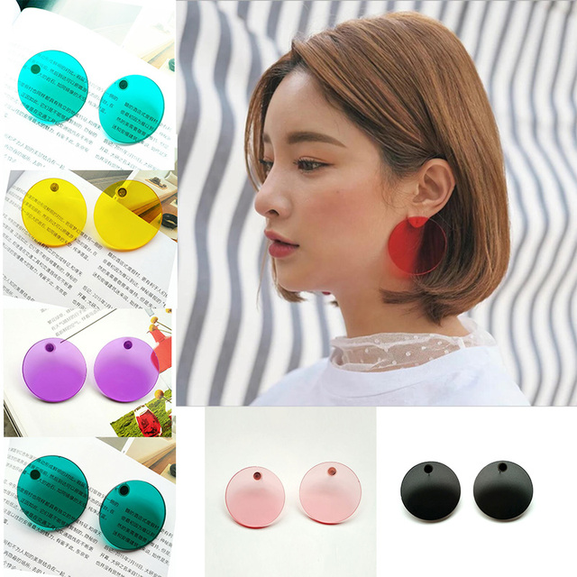 SOHOT 4CM Summer Acrylic Red Yellow Green Color Women Clear Hoop Earrings Candy Colorful Chic Circle.jpg 640x640 - SOHOT 4CM Summer Acrylic Red Yellow Green Color Women Clear Hoop Earrings Candy Colorful Chic Circle For Girl Birthday Brincos