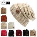 2017 Женщин Новый модный Бренд Шапки Твист Pattern Женщины Зима шляпа Вязаный Свитер Мода beanie Шляпы Для Женщин 12 цветов gorros