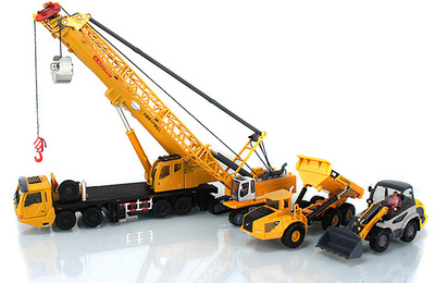 Kaidiwei light forklift loading and unloading crane crane tower digging machine alloy engineering vehicle model gift box 626031