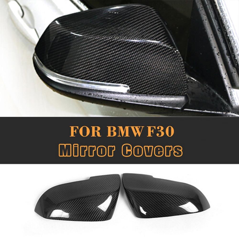 Боковые заднего вида зеркала волокна углерода крышки для BMW серии 1 2 3 Е87 Ф20 4 двери задка седен 2012-2017 не вагон