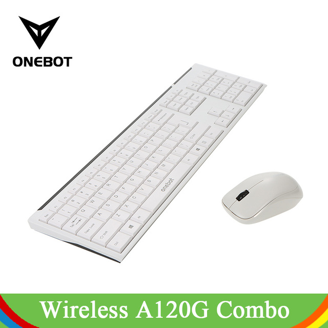 US $44 09 |Onebot Wireless Keyboard With Mouse Mice Kit Set For Desktop  Laptop PC Computer Combo Included 2 4GHz Connection White Full Size-in