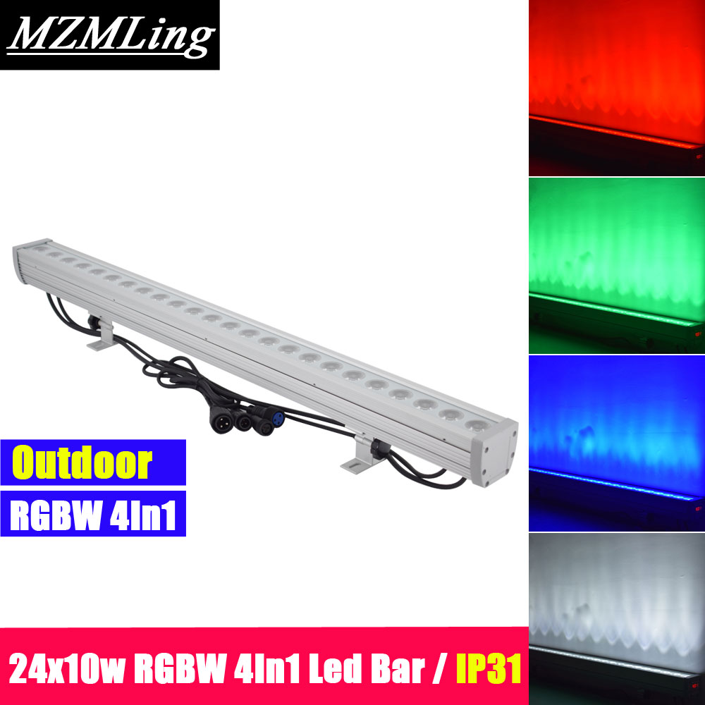 Lights & Lighting Able 24x10w Rgbw 4in1 Led Bar Ip31 Wall Wash Light Dmx512 Washer /flood Light Dj /bar /party /show /stage Light Diversified Latest Designs Stage Lighting Effect