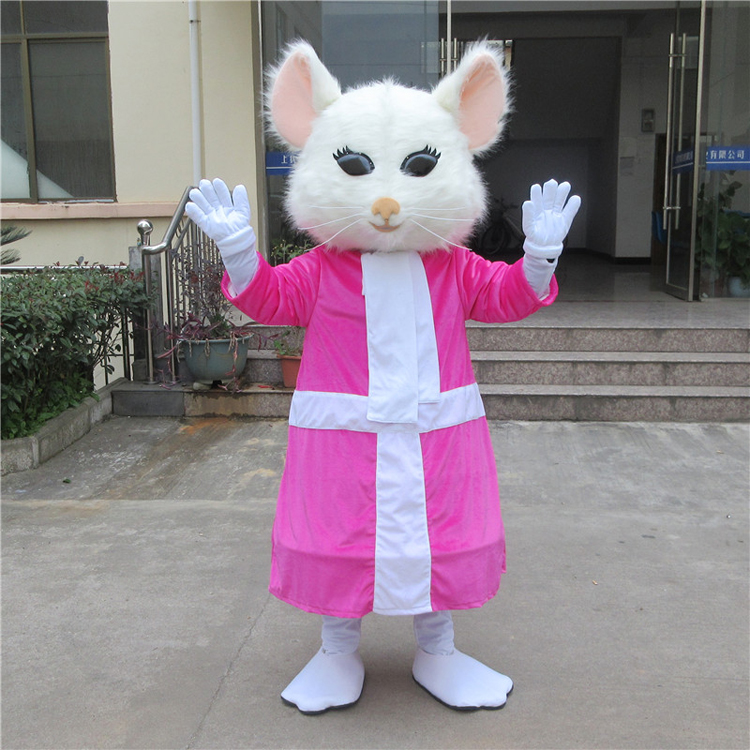 Alice au pays des merveilles Cosplay Costume souris mascotte Costume Halloween fête robe pour noël Cosplay