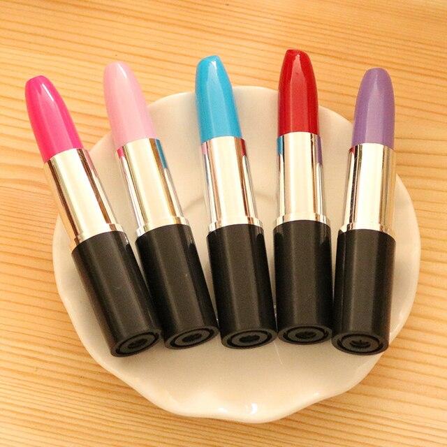 Student Cute Kawaii ballpoint Pen Creative lipstick Ball pen For Kids Novelty Item Stationery Gift School Supplies 1506