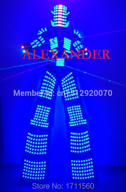 LED robotdräkter / LED-lampor kostymer / robot led / LED Robot kostymer / Alexander robot kostym