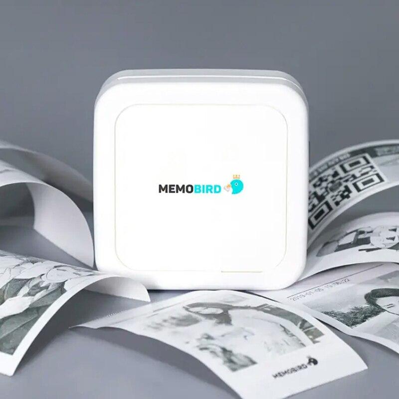 Imprimante Photo Portable Bluetooth Mini autocollant de poche Portable imprimante thermique application gratuite pour batterie Rechargeable iOS Android