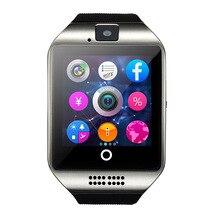 Feipuker q18 pasómetro smart watch con pantalla táctil cámara tf tarjeta bluetooth smartwatch para android teléfono pk gv18 gv18 gt08