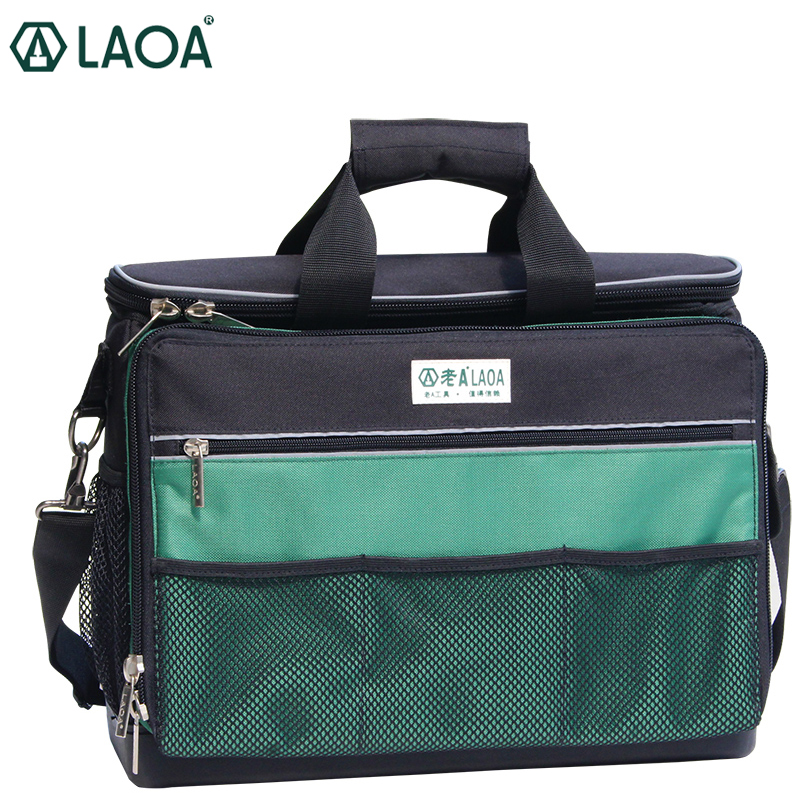 LAOA High Grade Large Size Multi-Layers Fabric Oxford Tool Bags Single Shoulder Portable Kit Case Tool Without Tools