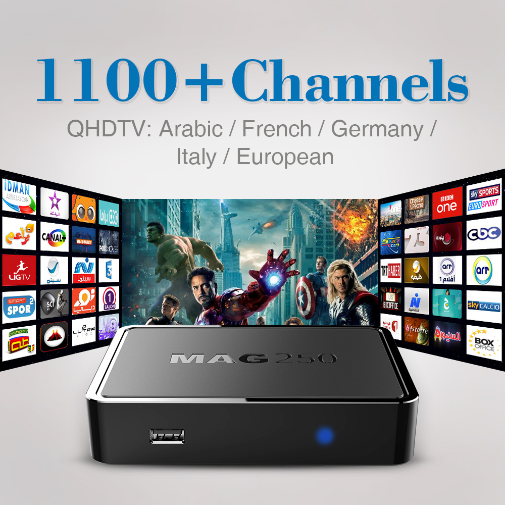 ФОТО Mag 250 Iptv Set Top Box Italy UK DE Linux European IPTV Box 1000+ Sports Spain Portugal Turkish IPTV Channels MAG250 Tv Box