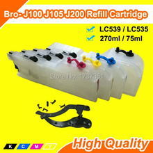 LC505 LC509 LC525 LC529 LC535 LC539 LC545 LC549 Long refill ink Cartridge For Brother J100 J105 J200 Printer no need chips reset