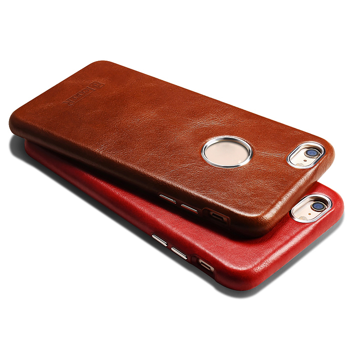 ICARER Business Style Retro Genuino Real Leather Logo Full Cover - Accesorios y repuestos para celulares - foto 3