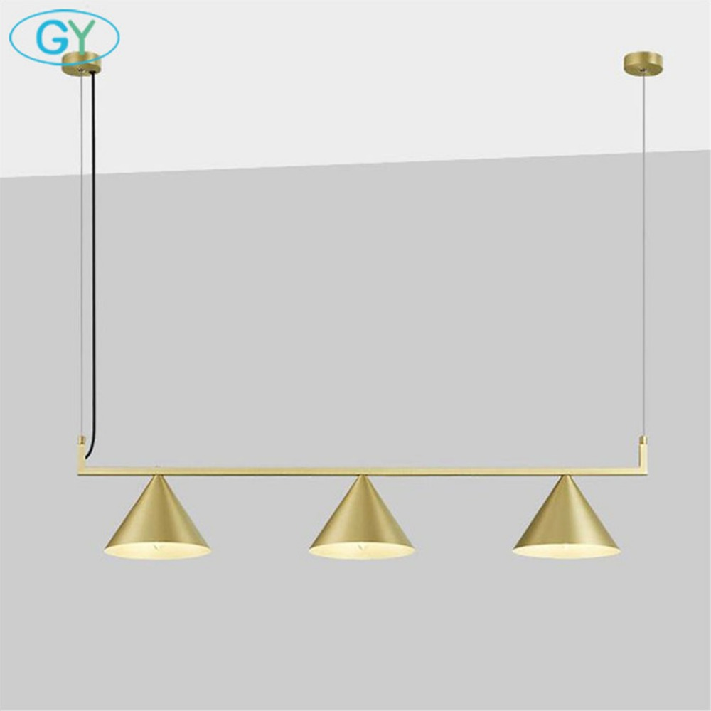 Nordic gold island chandeliers, mid century 3 light ceiling hanging lights, antique brass lustre for kitchen dining room lamp
