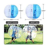 Free Shipping 1.2M PVC Inflatable Bumper Ball Bubble Football Human Hamster Ball Knockerball Bubble Soccer Ball for Adults