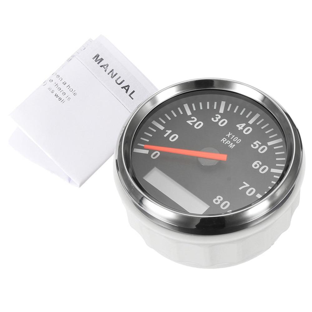 Image 5 - Digital Engine Tach Hourmeter Tachometer Gauge 6000 /8000 /9990 RPM Meter Display for Motorcycle Motor Marine Car-in Tachometers from Automobiles & Motorcycles
