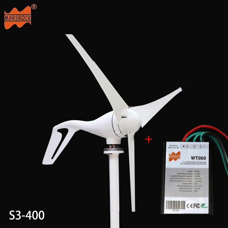 Livraison gratuite AC12V/24 V 400 W éolienne générateur petit moulin à vent pour un usage domestique, approbation CE RoHS