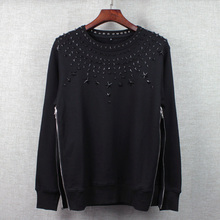 The streets of Hong Kong stars rivet wind loose lovers of men and women long sleeved sweater coat