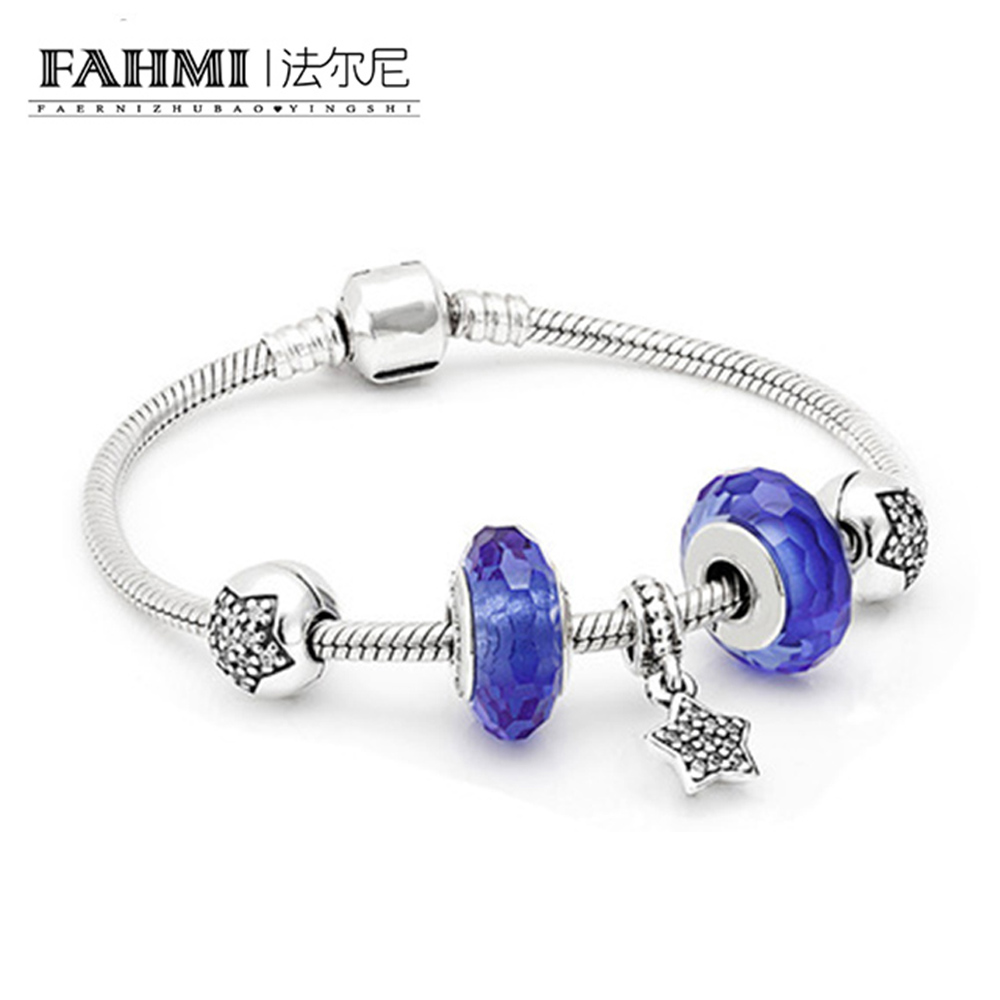 FAHMI New Arrival 100% 925 Sterling Silver Bracelet For Women With Heart Safety Chain ,Ice Charms Beads Fashion Jewelry OriginalFAHMI New Arrival 100% 925 Sterling Silver Bracelet For Women With Heart Safety Chain ,Ice Charms Beads Fashion Jewelry Original