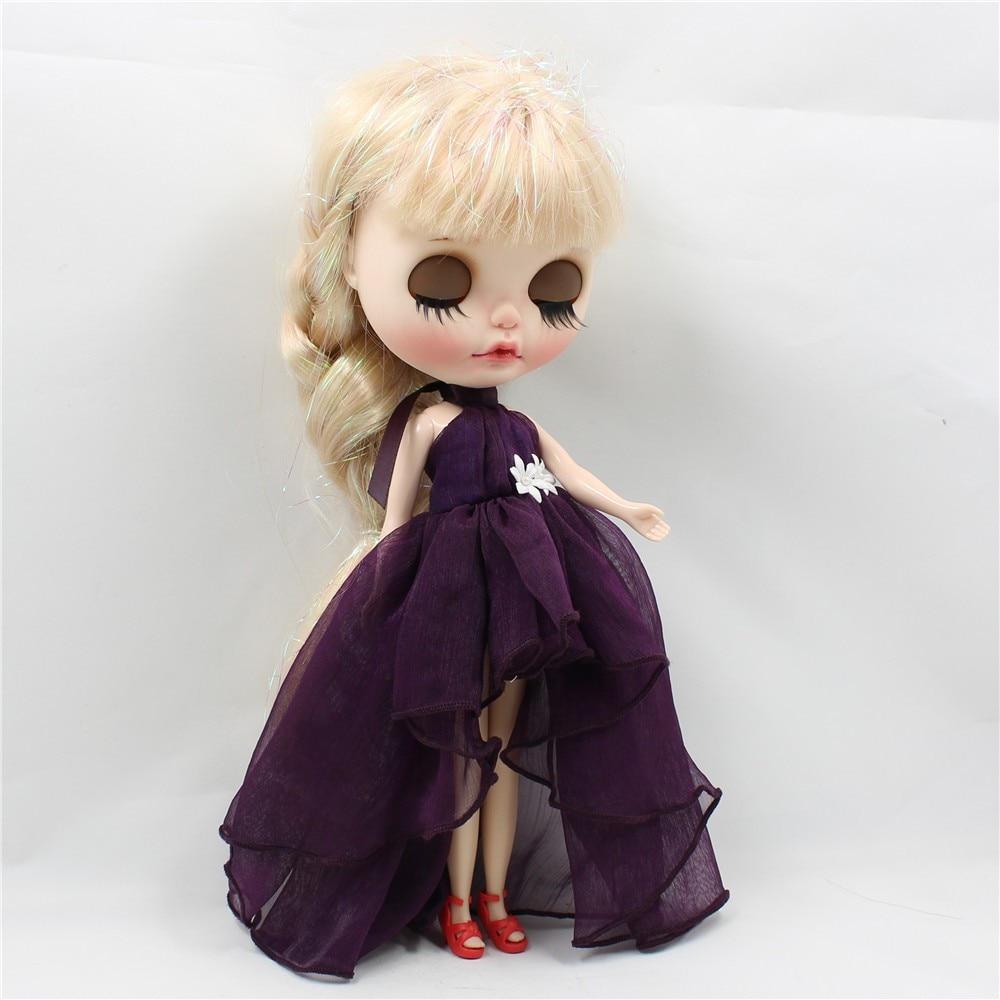 Neo Blythe Doll Chiffon Dress with Flower 14