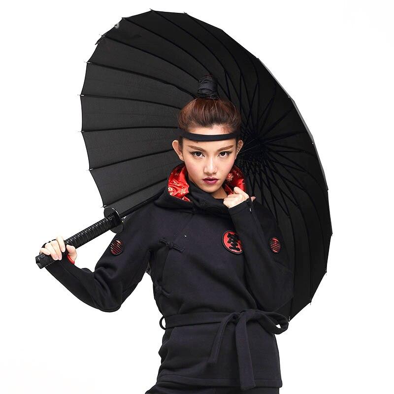 Diszipliniert Kreative Lange Griff Samurai Schwert Regenschirm Japanischen Ninja-wie Große Winddicht Sonne Regen Gerade Regenschirm Auto Öffnen Für Mann