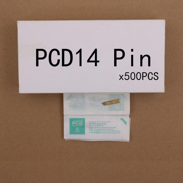 500 PCS Copper PCD Permanent Eyebrow Makeup Manual Tattoo Bevel Blades 14 Needles